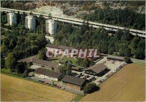 Postcard Modern School Bienne Switzerland Wood