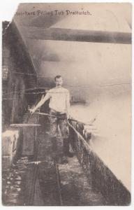 Worcestershire; Saltworkers Filling Tub PPC, 1907 PMK, Faults