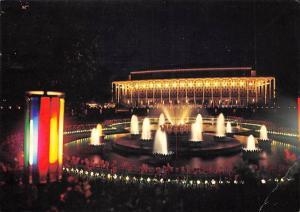 Denmark Copenhagen Tivoli Fountain Illuminated