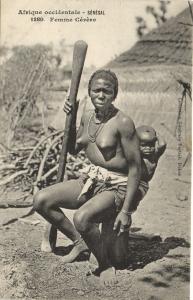 CPA Senegal Ethnic Nude Fortier - 1280. Femme Cérére (71183)