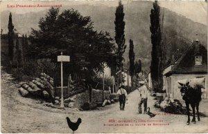 CPA Ourjout- Bifurcation de la Route de Bethmale FRANCE (1040619)