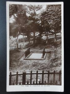 South Atlantic Ocean: St. Helena THE TOMB OF NAPOLEON - Old RP Postcard