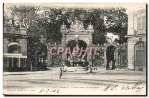 Nancy Postcard Old Fountain d & # 39amphitrite