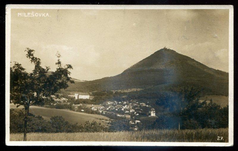 dc1960 - CZECHIA Milesovka 1910s Panoramic View. Real Photo Postcard