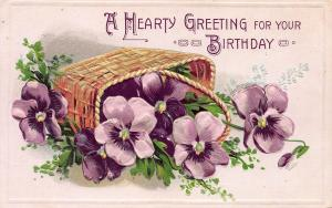 A Hearty Greeting For Your Birthday, Early Postcard, Used