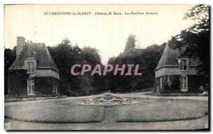 Old Postcard St Christophe Jajolet the Chateau de Sassy The entry of Pavilions