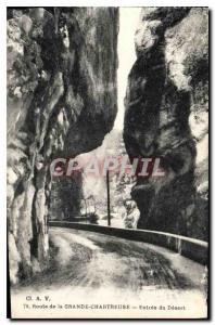 Postcard Old Road entrance of the Grande Chartreuse Desert