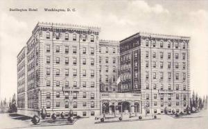 Washington DC Burlington Hotel Albertype