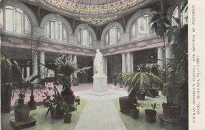 RICHMOND, Virginia, PU-1909; Thomas Jefferson's Statue; & Rotunda of Hotel