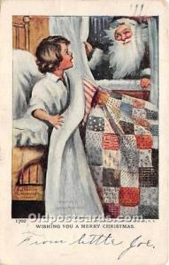 Santa Claus Postcard Old Vintage Christmas Post Card Green Suit 1906