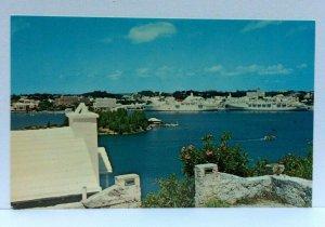 Bermuda Hamilton Harbour Cruise Ships In Port Postcard