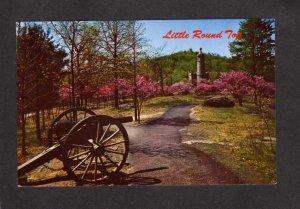 PA Little Round Top Battle Civil War Gettysburg Pennsylvania Postcard Military