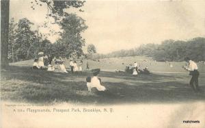 Brooklyn New York Playgrounds Prospect Park 8948 Rotograph C-1905
