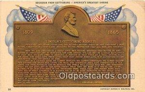 Gettysburg Address Unused