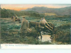 Divided-Back HORSE SCENE Great Postcard AA9415
