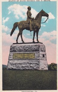 GETTYSBURG, Pennsylvania, 1900-1910s; Statue Of Major General Geo. G. Meade