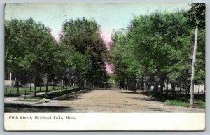 Redwood Falls Minnesota~Fifth Street Homes~Residential Neighborhood~1908 PC
