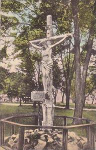 New York Auriesville Image Of Christ Crucified Albertype