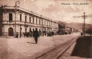 italy, MESSINA, Sicily, Corso Garibaldi (1910s) Postcard