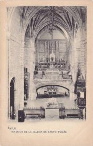 AVILA, Interior de la Iglesia de Santo Tomas, Castilla y Leon, Spain, 10-20s