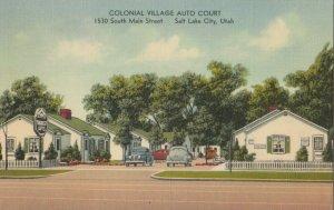 SALT LAKE CITY , Utah, 1930-40s ; Colonial Village Auto Court