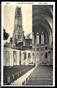 USA Riverside Church New York City 1940s