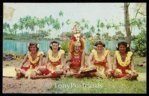 Taupou and Dancing Girls