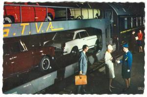 Chemins de fer Francais, TRAIN AUTOS COUCHETTES, 1960s used Postcard