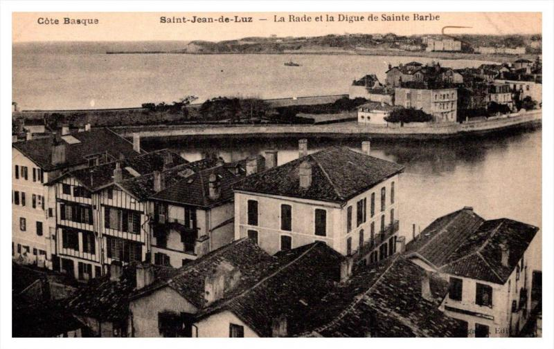 Saint Jean de Luz     La Rade et la Digue de Sainte Barbe