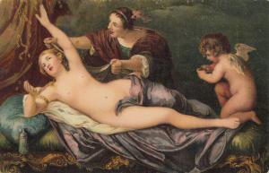 Stengel art postcard Anton van Dyck - Diane