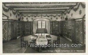 Oberstes Turmgemach mit der Bibliothek Schloss Wildegg Germany Unused