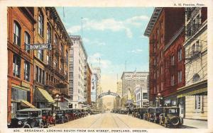 Portland Oregon~Liberty Theatre~Street Arch~Lady~Bowling~Barber Pole~1920s PC