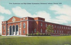 Indiana Richmond Civic Auditorium And High School Gymnasium
