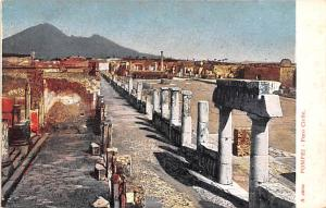 Italy Old Vintage Antique Post Card Pompei Foro Civile Unused