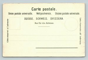 Interlaken Switzerland, Scenic View, Vintage Postcard
