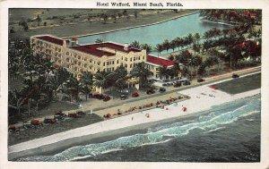 Hotel Wofford, Miami Beach, Florida, Early Postcard, Unused