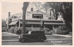 B75/ Skaneateles New York NY Postcard c1930s The Krebs Since 1889 Restaurant