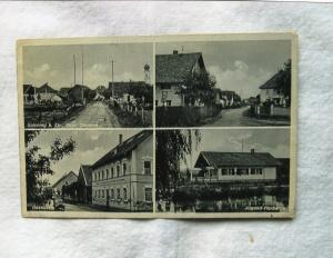 German Postcard RPPC Jugend - Herberge Four Scenes