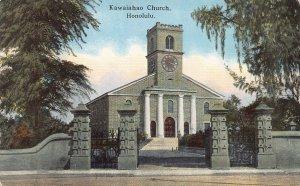 Kawaiahao Church, Honolulu, Hawaii Territory, early postcard