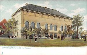 Worcester MA Child on Lawn of the Art Museum~TUCK Postcard