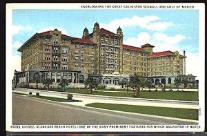 USA Postcard Hotel Galvez Galveston Texas