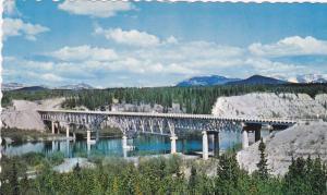 Bridge, Johnson's Crossing,  Alaska Hwy.,  Yukon,  Canada,  40-60s