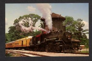 TX TEXAS State Railroad Train Locomotive No 400 PALESTINE RUSK Postcard RR PC