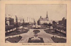 Plaza De Mayo Y Avenida De Mayo, Buenos Aires, Argentina, 1900-1910s