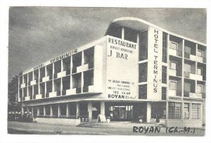 Royan (Charente-Maritime), France, 1920-30s; Hotel Terminuis , restaurant , b...