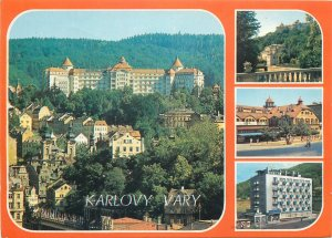 Postcard several aspects and sites Karlovy Vary Czech Republic