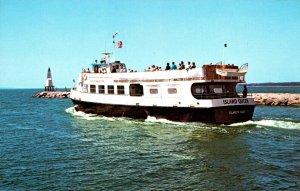 Massachusetts Cape Cod Excursion Boat Island Queen Leaving Falmouth Harbor