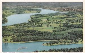 Massachusetts Holyoke & Connecticut River Aerial View Detroit Publishing