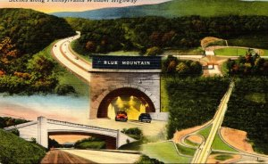 Pennsylvania Turnpike Multiple Views Including Blue Mountain Tunnel 1952