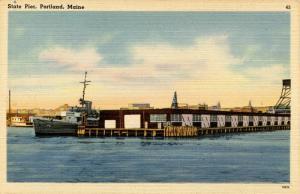 ME - Portland. State Pier
